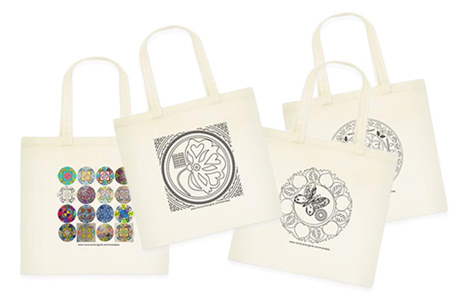 Mandala da colorare… anche sulla tua borsa!
