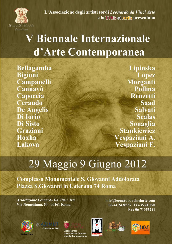 Maggio 2012: V Biennale Internazionale d'Arte Contemporanea – Roma