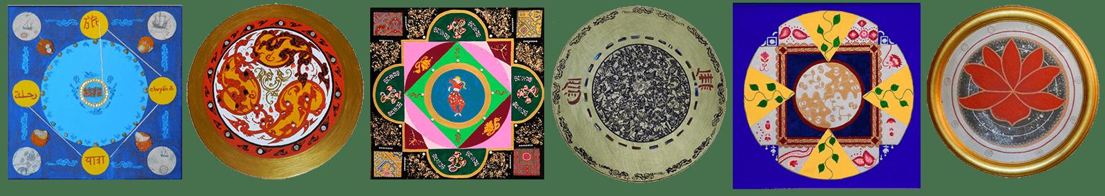 esempi di mandala dipinti da Monica Morganti